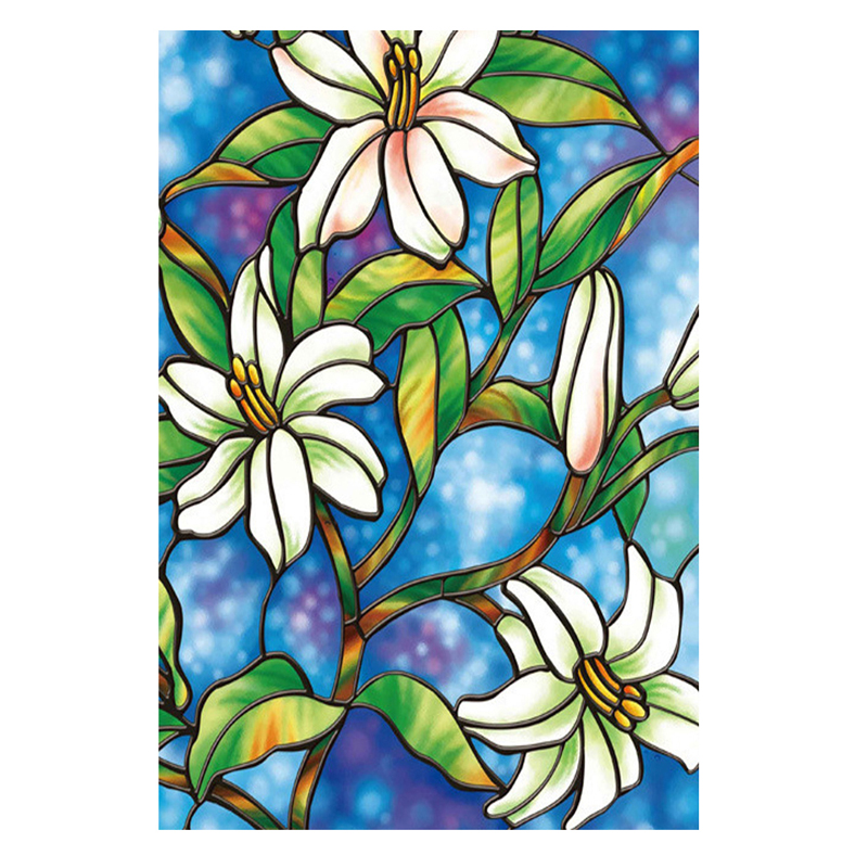 European Orchid Flower Window Film Stickers DIY Stained Glass Home Privacy Decor In Wall From Garden On Aliexpress