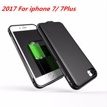 For iphone 7 battery Case Metal Shell Power Bank Charger Cover Smart For iphone 7 Battery case For iphone 7 Plus Battery Case