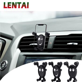 LENTAI For Hyundai solaris i30 tucson 2017 ix35 accent Volvo xc90 s60 xc60 Lifan NEW 1PC Car Mobile Phone Holder Bracket Black image