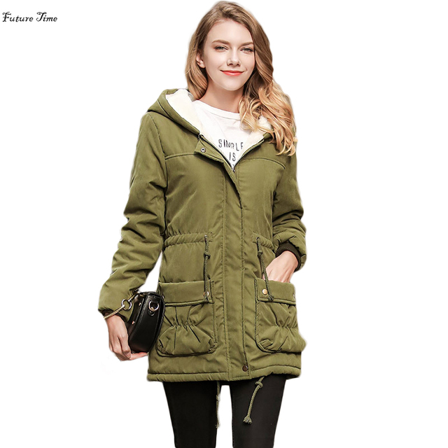 Groene Lange Winterjas.Winterjas Vrouwen 2018 Jacket Parka Vrouwelijke Overjas Hooded Dikke