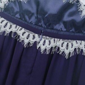 Image 5 - Çocuk Kız Halter Boyun Çiçek Dantel Düğme Kapatma Çiçek Kız Elbise Prenses Pageant Düğün Nedime Parti balo elbisesi Elbise