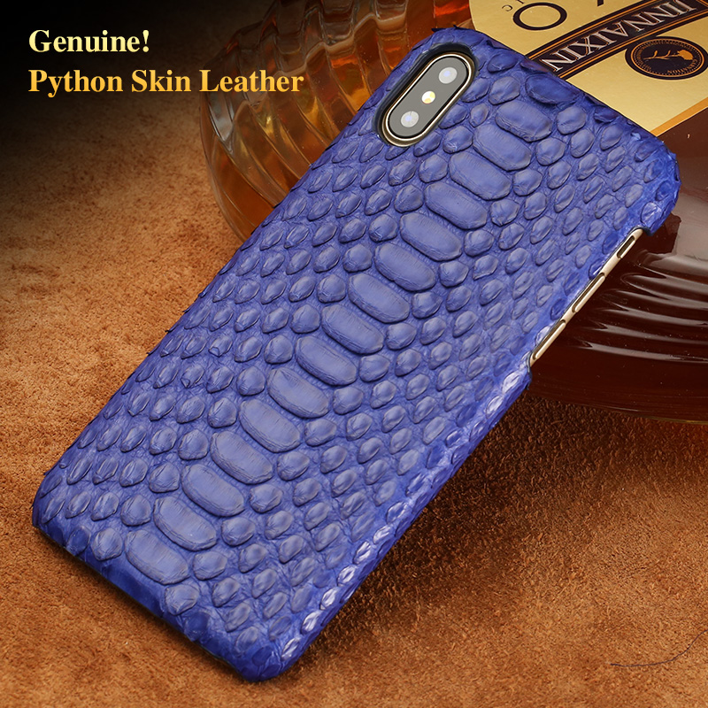 LAGNSIDI brand cell phone case natural python skin cover phone case for iphone 8Plus cell phone cover all handmade custom
