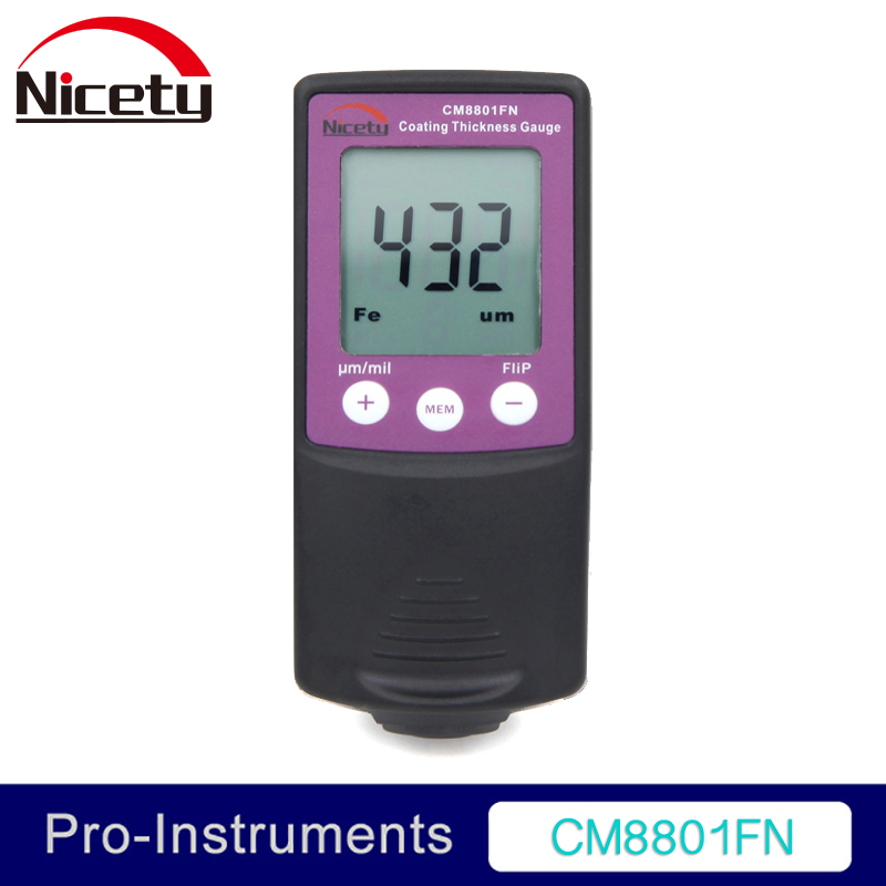 Nicety CM8801FN Fe and NFe 2 in 1 Car Body Paint Gauge Coating Thickness Meter Film Thickness Tester 0 1500um lcd film coating thickness gauge meter 2in1 fe nfe non magnetic surface paint coatings thickness measurement gm211