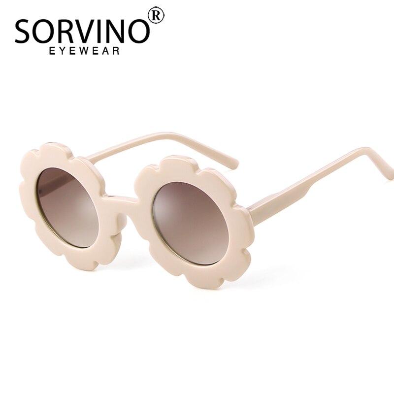 SORVINO Flor Rodada Crianças Óculos De Sol Da Marca Designer Pequeno Círculo Do Vintage Bonito Meninos Meninas do bebê Crianças Óculos de Sol Shades SP240