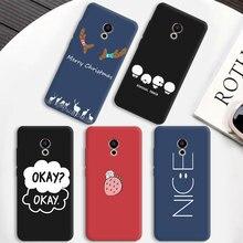Яркий матовый ТПУ чехол для телефона Meizu15 Lite Plus E3 MX6 M5 M6 Note Pro 6 5 M6S мобильный чехол для телефона с рождественским рисунком для OnePlus 5T Coque