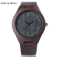 New Genuine Leather Band Strap Nature Wood Cool Bamboo Minimalist Women Wrist Watch Casual Gift Men
