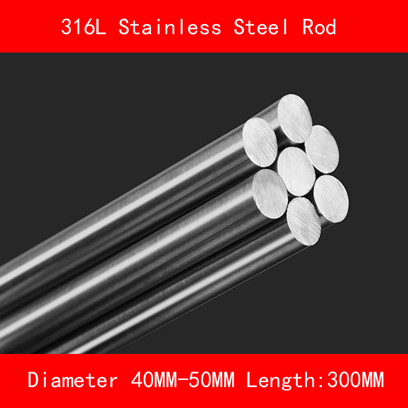 316L Stainless steel round bar Diameter 40mm 50mm Length 300mm metal rod learning carpets us map carpet lc 201