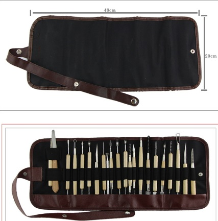 22pcs Polymer Shapers Modeling Carved Knife Wood Handle Set Clay Sculpting Smoothing...