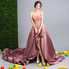 2f872c007 Luxo 2019 Doce 16 Adolescentes Alta Baixa Prom Vestidos Apliques Beading  Vestido de Festa Vestidos De
