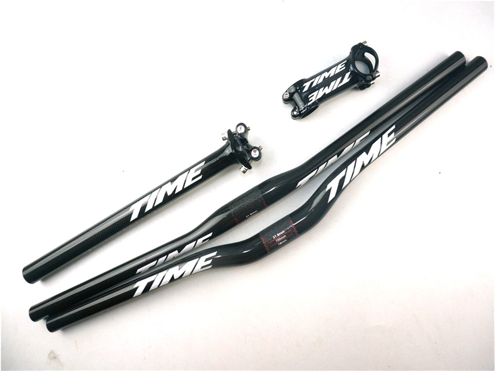 New TIME carbon fiber bike parts handlebar seatpost stem new time new time ci g1286