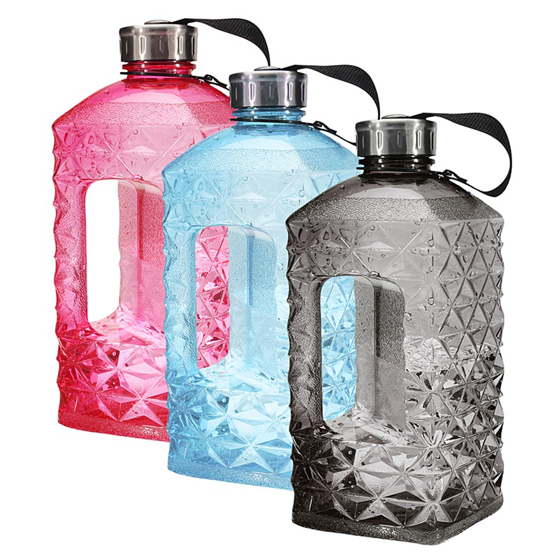 New 2.2L Sports Kettle Portable Gym Training Picnic Drinking Water Bottle BPA Free Sport Drinking Bottle Outdoor Square Jug