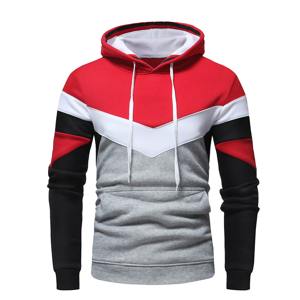 TOLVXHP 2018 nuevos Hombres Calientes Sudadera con capucha de costura personalidad diseño hoodie con capucha casual Slim sudadera hip hop casual hoodie