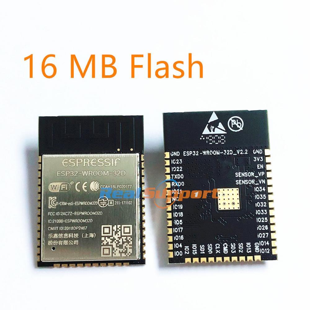 ESP32-WROOM-32D 16MB Flash Memory Wi-Fi+BT+BLE ESP32 Module Espressif Original Better RF Perfermance