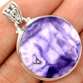 Genuine TIF Jasper Pendant 100% 925 Sterling Silver Jewelry 40mm AP1283