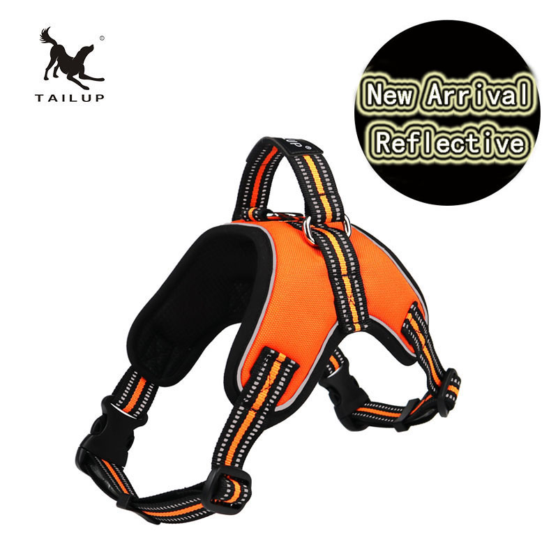Tailup Safety Reflective Harness For Large Dogs D