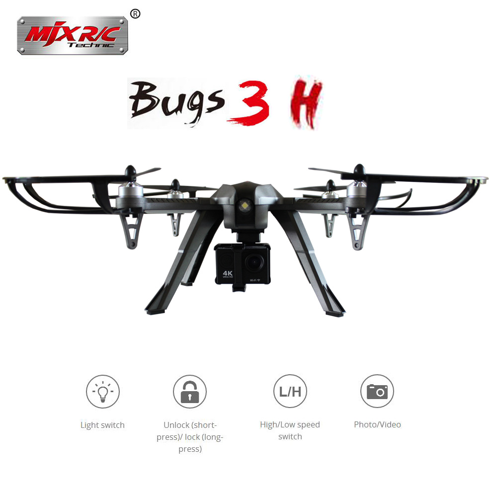 MJX Bugs 3H B3H RC Helicopter Brushless Motor RC Drone With H9R 4K FPV Camera Quadcopter MJX Bugs 3 Upgraded Version VS SYMA X8 mjx bugs 3h b3h rc helicopter brushless motor rc drone with h9r 4k fpv camera quadcopter mjx bugs 3 upgraded version vs syma x8