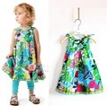 Catim Детские платья Девушки Трехмерной пластины цветы жилет Платье, объединяясь принцесса dresse Дизайнер одежды оптом