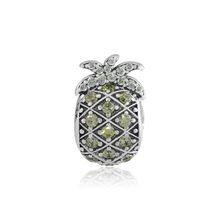 CKK Genuine 925 Sterling Silver Shiny Pineapple Charm Beads Suitable Original Pandora Bracelet DIY Jewelry