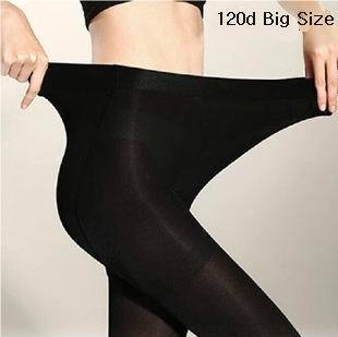 2pcs Plus Size 120D Autumn and Winter Warm Stretchy Tights Pantyhose for Women Comfortable Elastic Big Size Tights