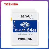 TOSHIBA Flash Air W-04 Memory Card 32GB 64GB wifi SD Card 90MB/s Wireless SDHC Memory Card Tarjeta sd WIFI Carte SD For Camera