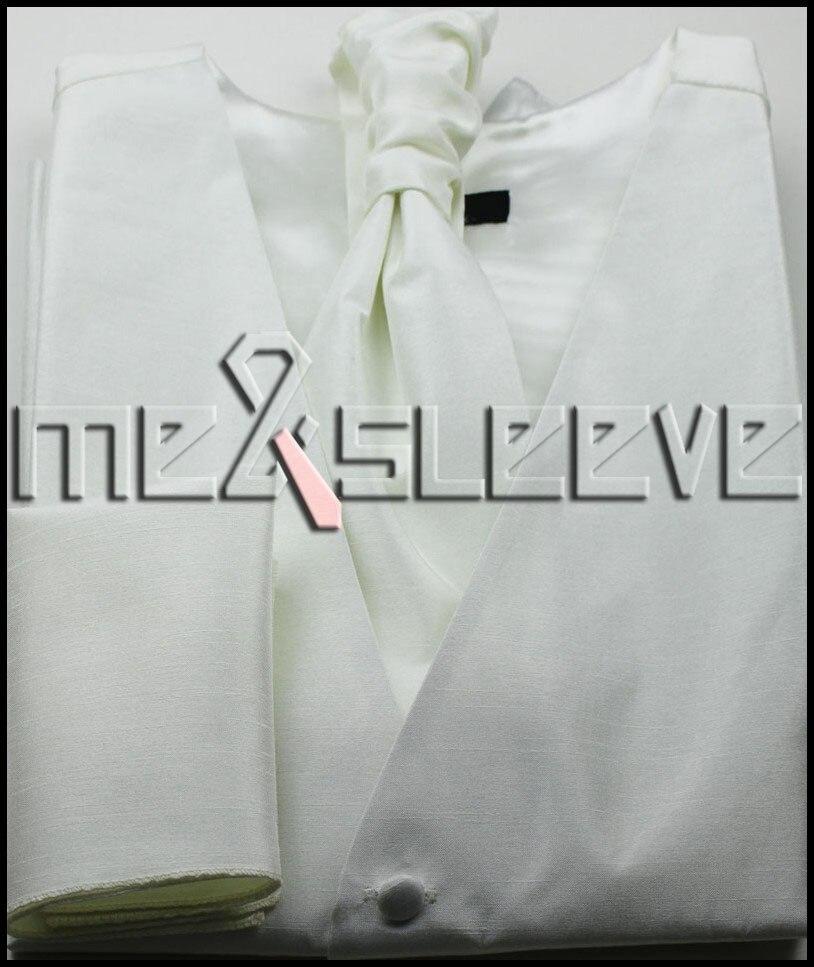 hot sell formal wear stipe waistcoat waistcoat cravat cufflinks handkerchief