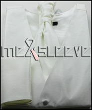 hot sell formal wear stipe waistcoat (waistcoat+cravat+cufflinks+handkerchief)
