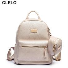 Clelo модные Тиснение Для женщин большой из искусственной кожи Рюкзаки женский Лидер продаж школьный дорожная сумка Высокое качество Composite Backpack