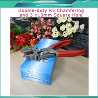 Free Shipping PVC Card Chamfering Flat Hole Punch R5 Chamfering 3 X13 Party Punch Fillet Kong