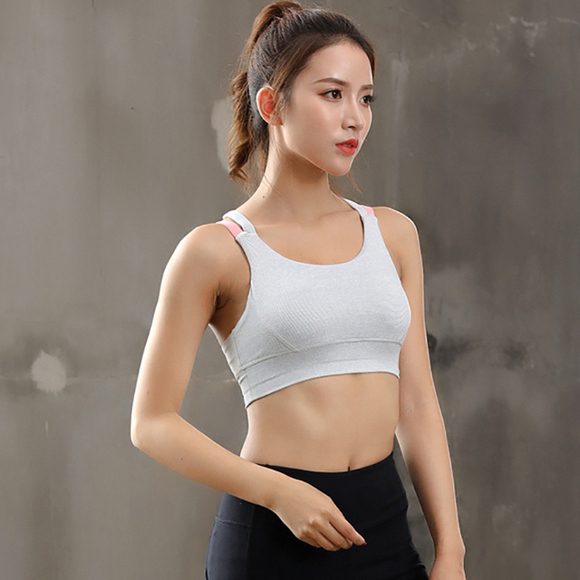 Women Black Sports Bra Hit Color Fitness Tops Backless Athletic Tank Active Wear Sport Clothes Running Tank Top Women Sport Sexy 5