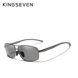 Image 2 - KINGSEVEN 新フォトクロミックサングラス男性偏光カメレオンメガネ男性サングラスの昼偏 N7088