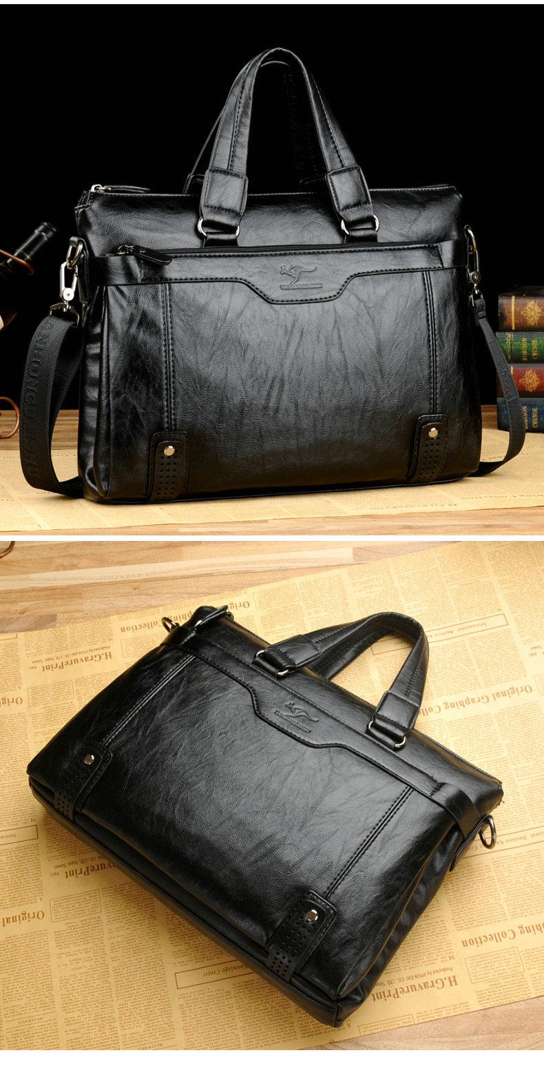 HTB1HVBAek5E3KVjSZFCq6zuzXXaI Cowhide Leather men's Briefcase men laptop male messenger bag Men's shoulder bags briefcases for documents bag