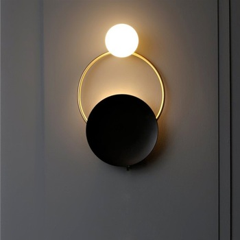 Postmodern LED living room sconces Nordic lighting stairs fixtures bedroom Wall lights Novelty home deco aisle Wall lamps