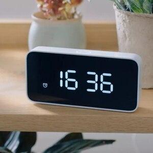 Image 2 - Original Xiaomi Xiaoai Smart Alarm Clock Voice Broadcast Clock ABS Table Dersktop Clocks AutomaticTime Calibration Mi Home App