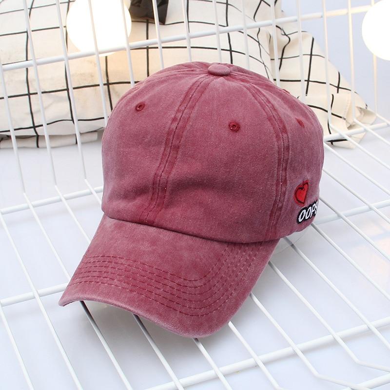Bpckaace New casual women denim baseball cap solid mens dad hat retro hip hop snapback summer hats