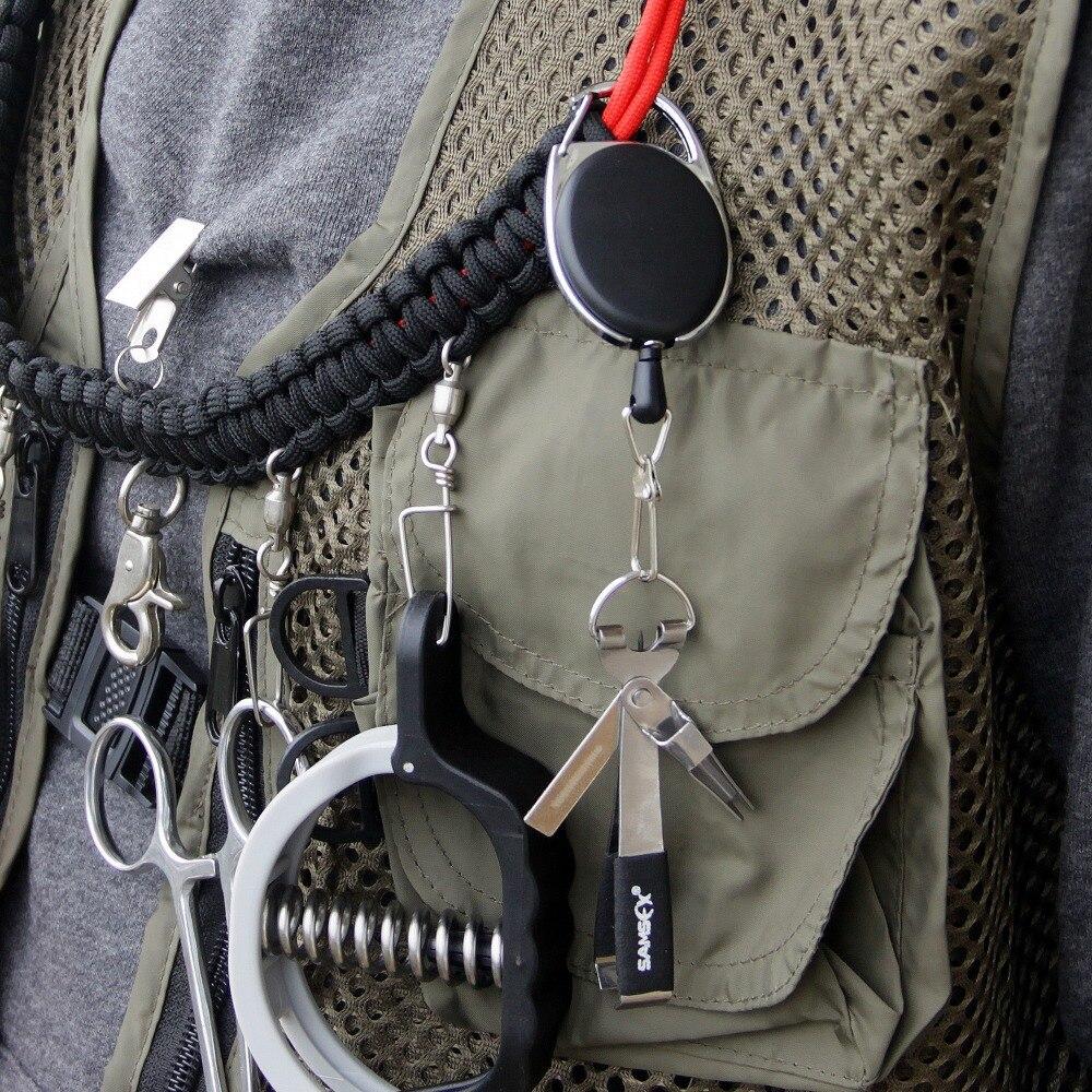 SAMSFX moscas de pesca Tackle ACCESORIOS 4 en 1 rápido nudo Tyer herramienta pescado líneas Clipper tijeras gancho Sacapuntas con zinger