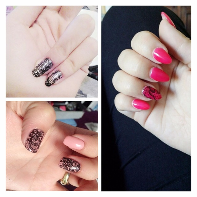 DIY Lace Flower Designs Transfer Nail Stickers