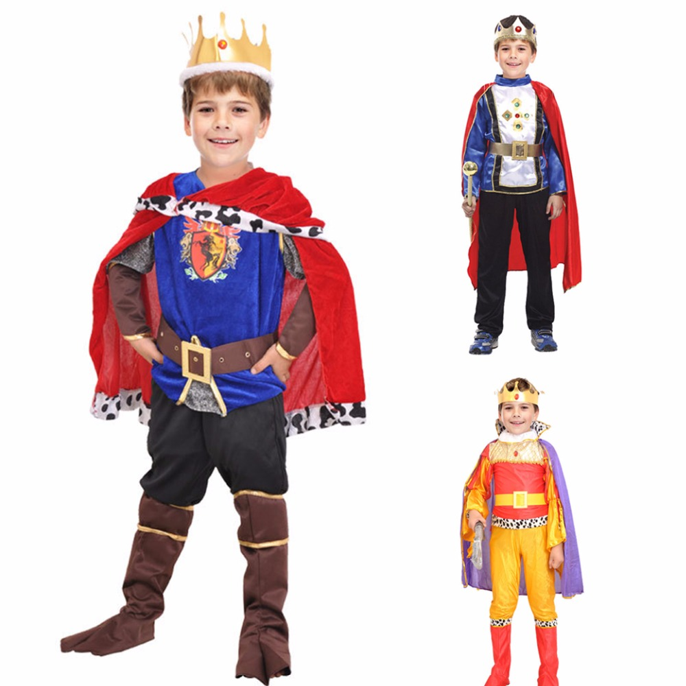 Fantasia European royalty clothing new Halloween Cosplay kids Prince Costume for Children The King Costumes Children's Day Boys