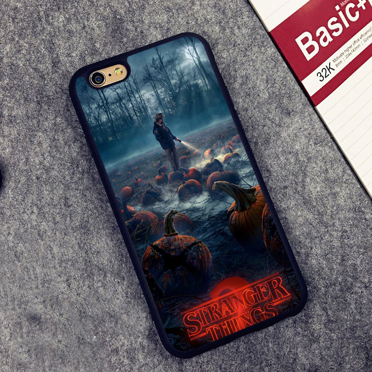 Stranger Things design protect edge Back Case Cover For iPhone X 8 5 5S SE 6 6S 7 Plus