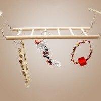Клетка для птиц, аксессуары попугай качели лестницы игрушки птицу игрушки Красочные лестница Bird Cage висит декор попугай жевать игрушки