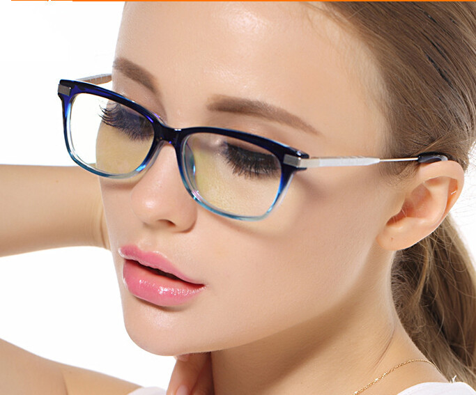 eyeglasses for women  Aliexpress.com : Buy Blue Clear Eyeglasses Frames Eyewear Female ...