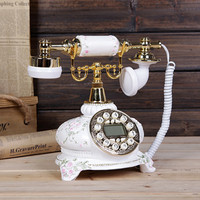 Fashion retro European antique hands free call display of three dimensional carved screen telephone