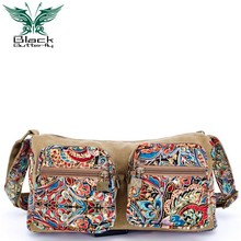 Black Butterfly original design Ethnic Style women Shoulder Bag Female Casual Messenger Bag Mujer Embroidery Crossbody Bag ethnic style women s crossbody bag with hollow out and color matching design