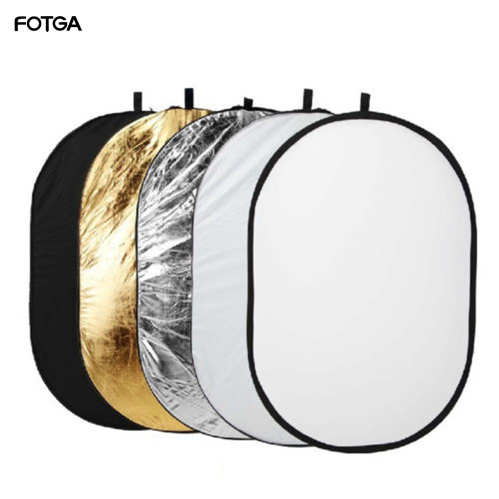 100 X150cm 5 in 1 Oval Studio Light Multi Collapsible Photo Reflector for Photography Outdoor Light