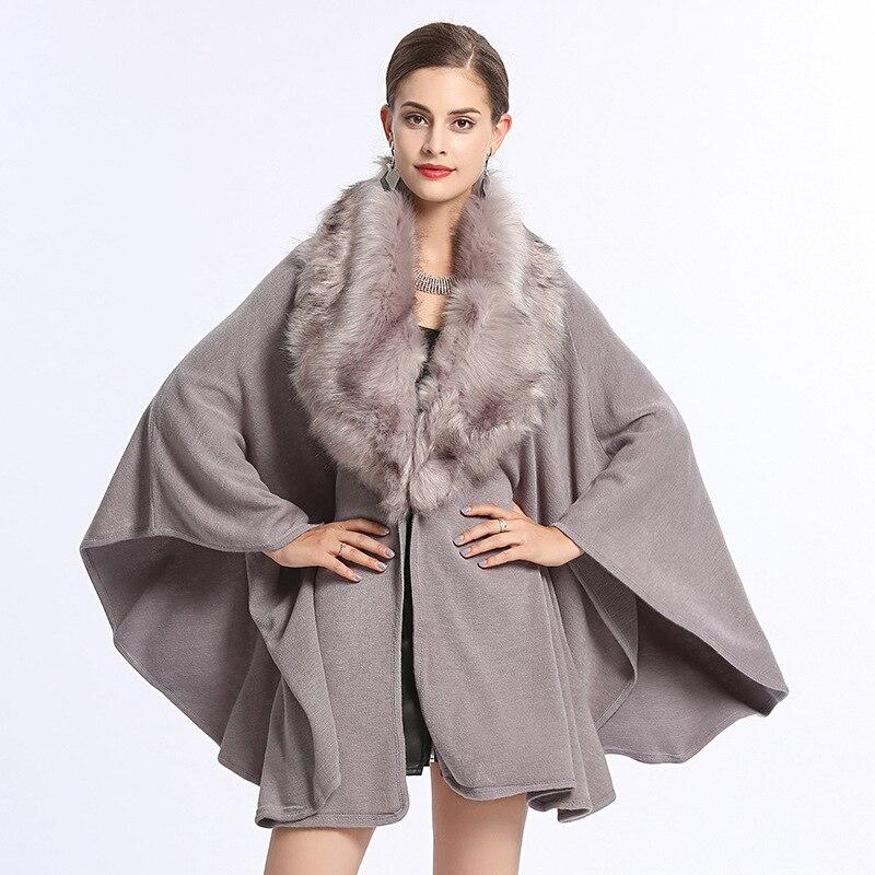 2018 Frauen Strickjacken Vintage Frauen Herbst Mantel Batwing Hülse Frauen Winter Cape Casaco Feminino Winter Kleidung Frauen Poncho