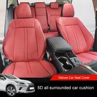 QHCP из микрофибры автомобилей сиденья 5 мест 5D все окружении автоаксессуары, пригодный для Lexus NX 200 300 200 Т 300 H