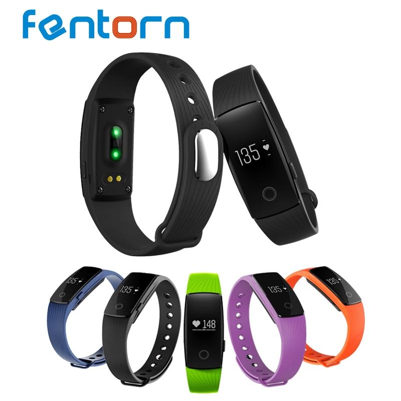 imágenes para Fentorn Inteligente Bluetooth Banda de Frecuencia Cardiaca Monitor de Sueño Inteligente Muñequera Rastreador De Fitness Podómetro Inteligente Pulsera Para IOS Android