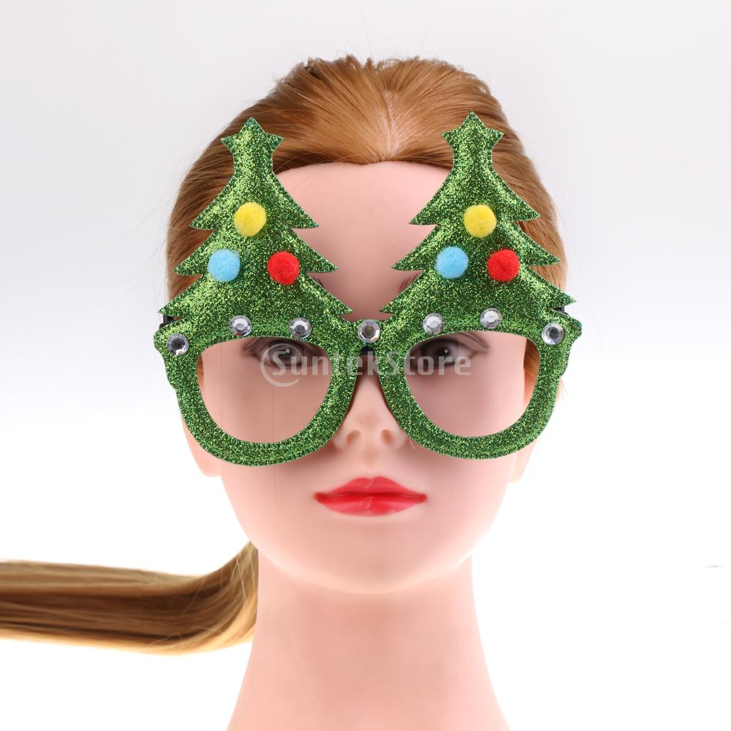 Glitter Christmas Tree Sunglasses Holiday Novelty Glasses Stocking Stuffer Kids Holiday Gift