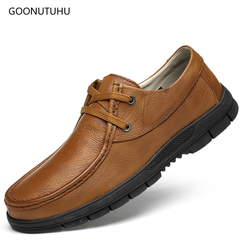 2019 new spring breathable mens shoes leather genuine platform lace-up shoes casual driving & work fashion men shoe big size 472019 new spring breathable mens shoes leather genuine platform lace-up shoes casual driving & work fashion men shoe big size 47