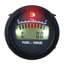 Free Shipping LCD Fuel Gauge DC powered For Motorcycle Jet Ski Marine pit bike motorbike Generator Engine sw6 12kg 14kg thrust aircraft turbojet engine 50000 115000 rpm for rc jet airplane ecu jet diesel fuel kerosene engine to russia