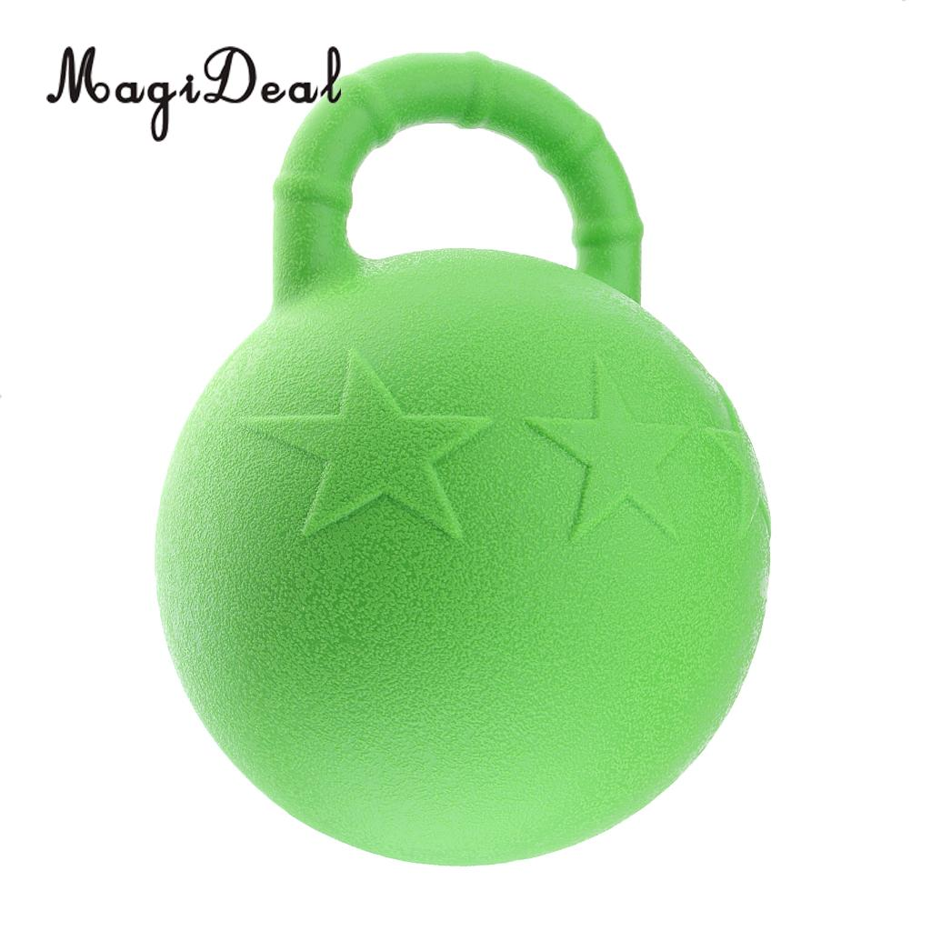 MagiDeal Horse Toy Game Ball with Apple Scent Pet Joy Fun Horse Stable And Yard Toy pet dog ball shape toothbrush fun toy